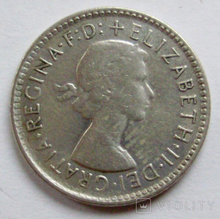 6 пенсів 1963р. Австралія., фото №3