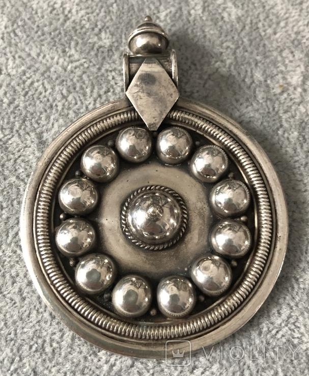 Серебряный массивный кулон (серебро 925 пр, вес 31,8 гр), фото №2