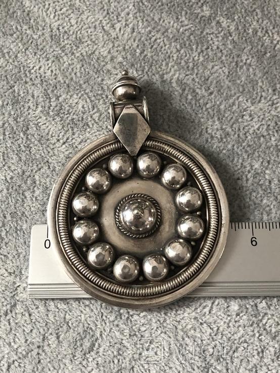 Серебряный массивный кулон (серебро 925 пр, вес 31,8 гр), фото №10