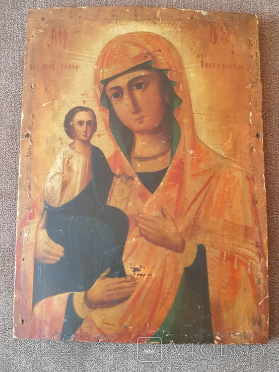 Старая икона Троеручница., фото №2