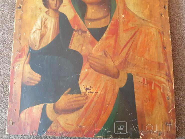 Старая икона Троеручница., фото №5