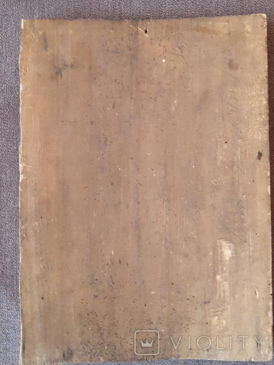 Старая икона Троеручница., фото №8