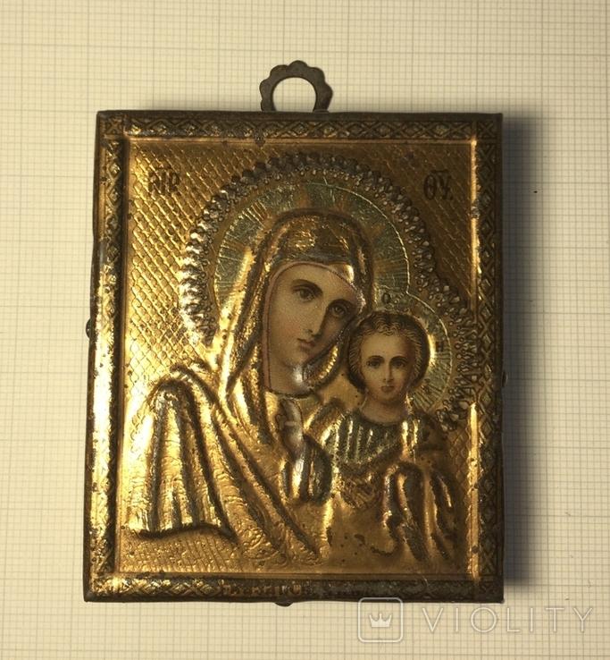 Икона Казанской Божией Матери хромолитография (~ Жако, Москва 1894), фото №2