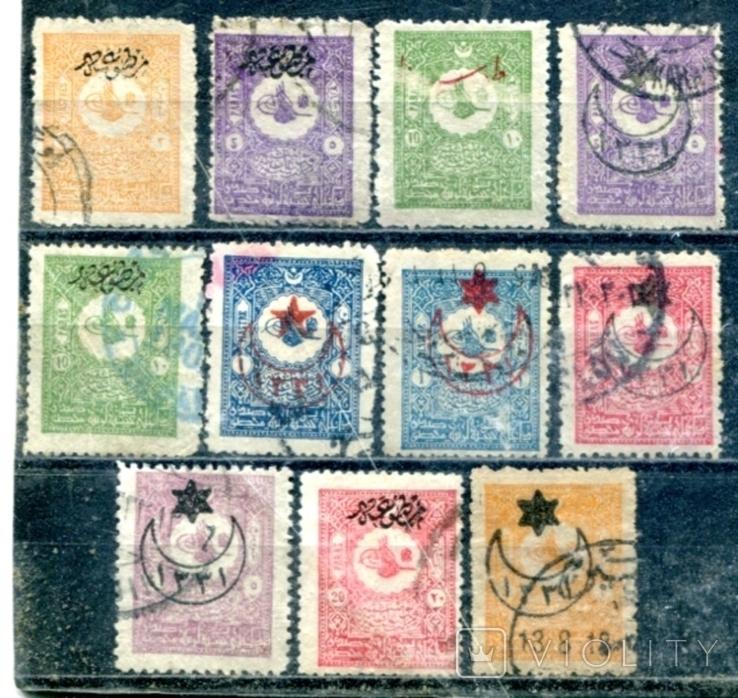 Турція. надруки на стандартах 1901