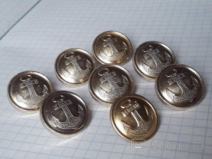 Пуговицы с якорем ВМФ СССР на шинель, мосштамп, фото №4