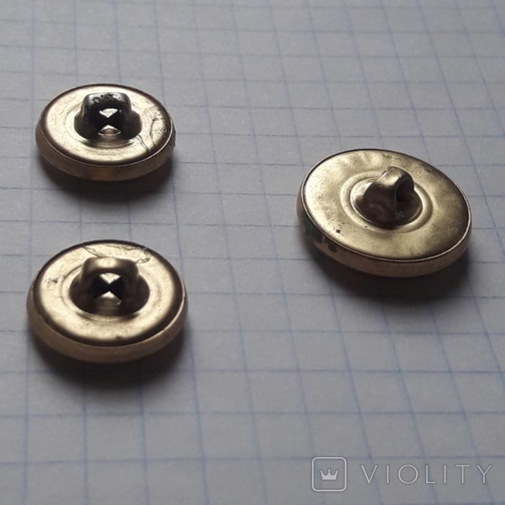 Пуговицы с якорем металл, 19 и 14 мм, фото №7