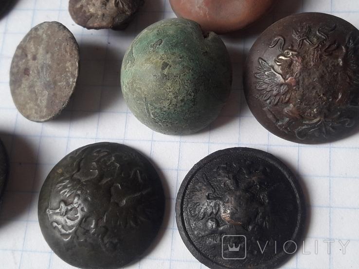 Пуговицы РИА и старинные, бронза сплав и т.д., 34 шт, фото №5