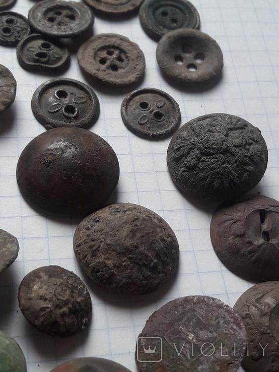 Пуговицы РИА и старинные, бронза сплав и т.д., 34 шт, фото №8