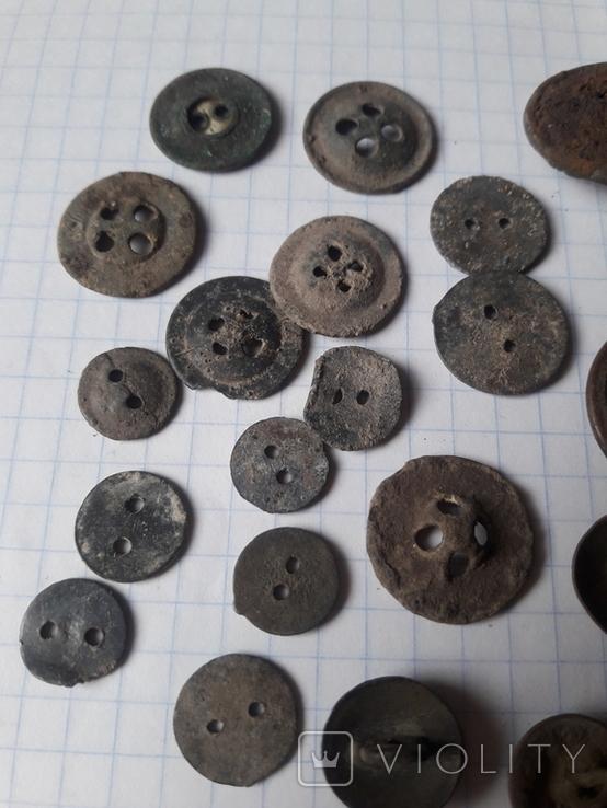 Пуговицы РИА и старинные, бронза сплав и т.д., 34 шт, фото №13
