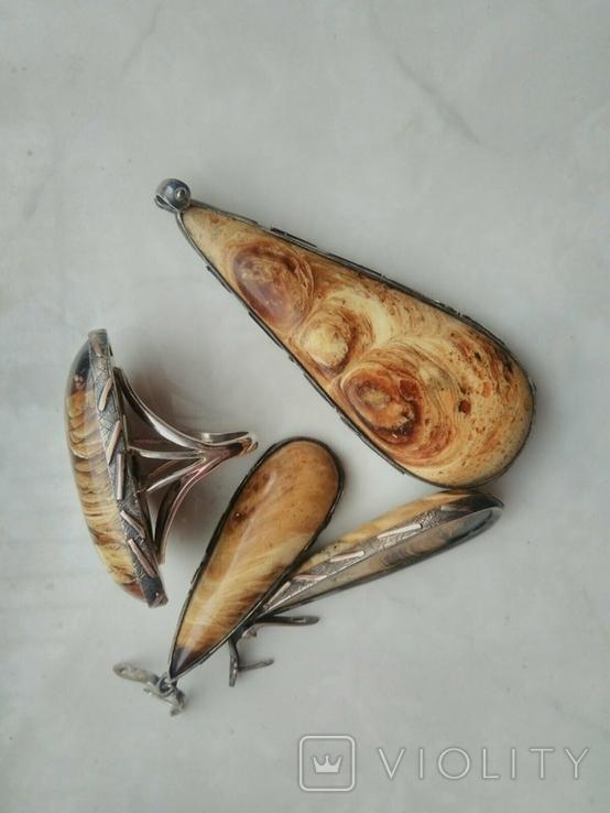 Набор королевский янтарь (ручной работы), фото №4
