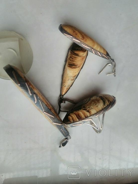 Набор королевский янтарь (ручной работы), фото №8