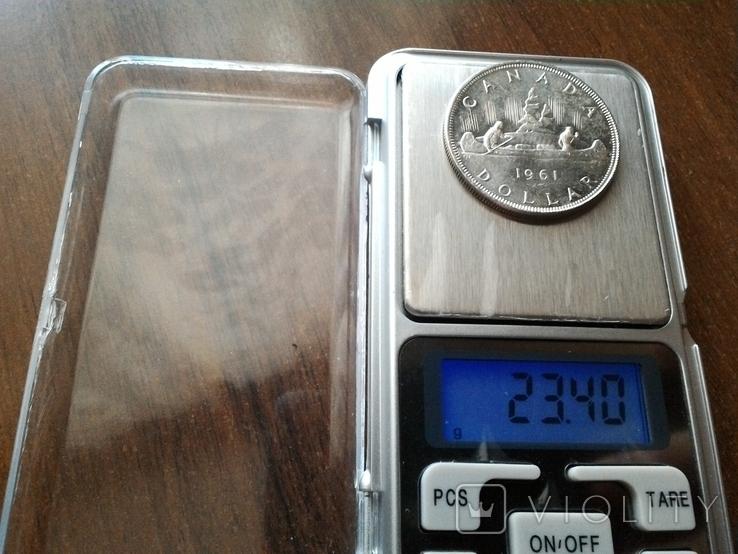 Канада 1 доллар 1961 / серебро, фото №6