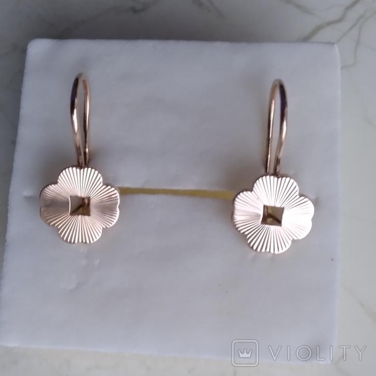 Сережки золото 585 СССР 3,71 г, фото №3