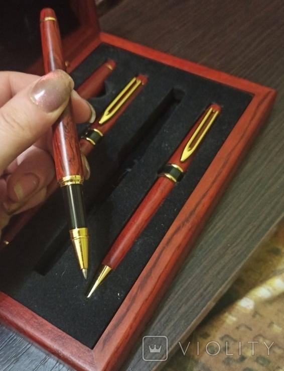 Ручки в деревянном корпусе, фото №4