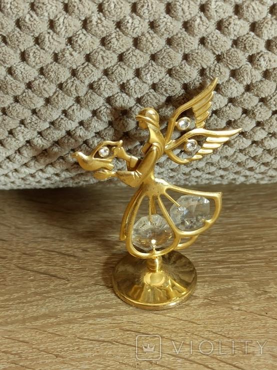 Ангел Филин Крест кристаллы Сваровски, фото №6