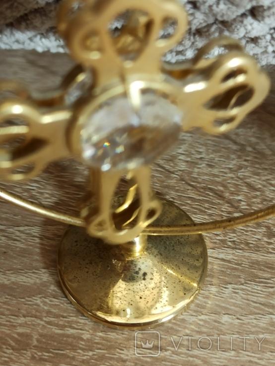 Ангел Филин Крест кристаллы Сваровски, фото №9