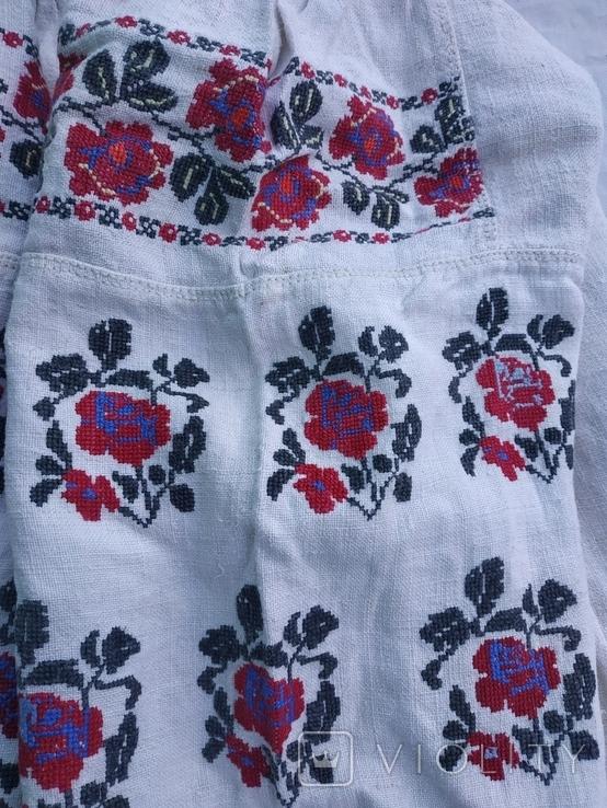 Сорочка старовинна вишиванка Миргородська конопляна полотняна, рубаха женская старинная., фото №9