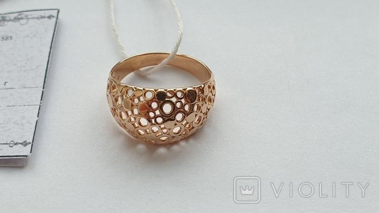 Женское золотое кольцо 585 пробы 4 гр 18.5, фото №2