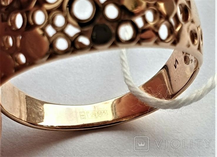 Женское золотое кольцо 585 пробы 4 гр 18.5, фото №6