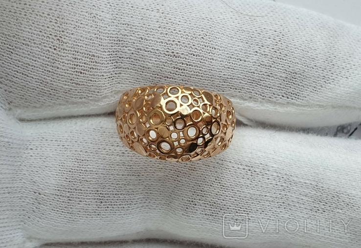 Женское золотое кольцо 585 пробы 4 гр 18.5, фото №7