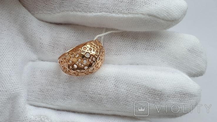 Женское золотое кольцо 585 пробы 4 гр 18.5, фото №8