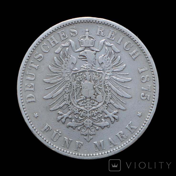5 Марок 1875 Карл, Вюртемберг, фото №3