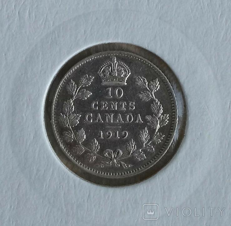 10ере1907гШвеция и 10центов1919гКанада(одним лотом)., фото №5