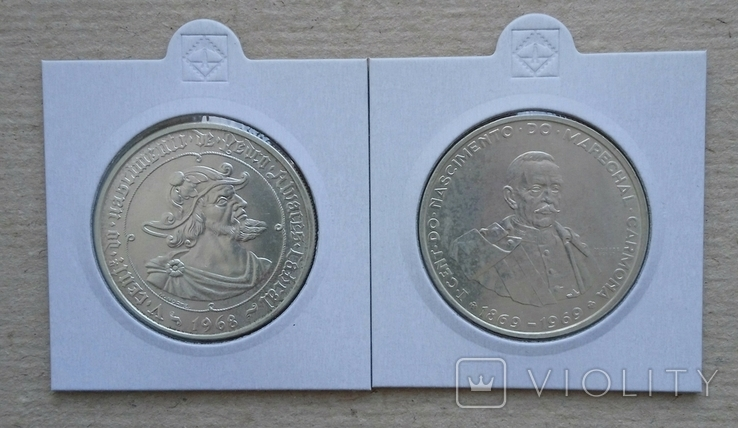 50ескудо 1968г и 1969гПортугалия(одним лотом), фото №2