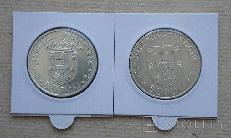 50ескудо 1968г и 1969гПортугалия(одним лотом), фото №3