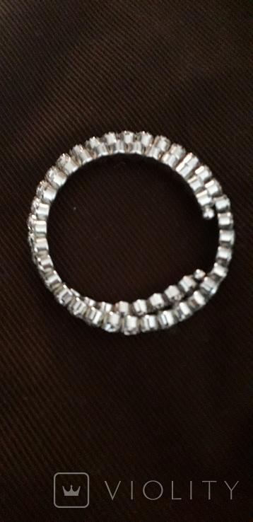 Бижутерный браслет с белыми камнями, фото №7