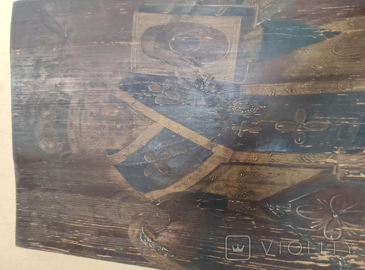 """Икона """" Николай Чудотворец"""". Большая. 68х52,5см. Мощевик(?). Украина. Сер.19века., фото №10"""