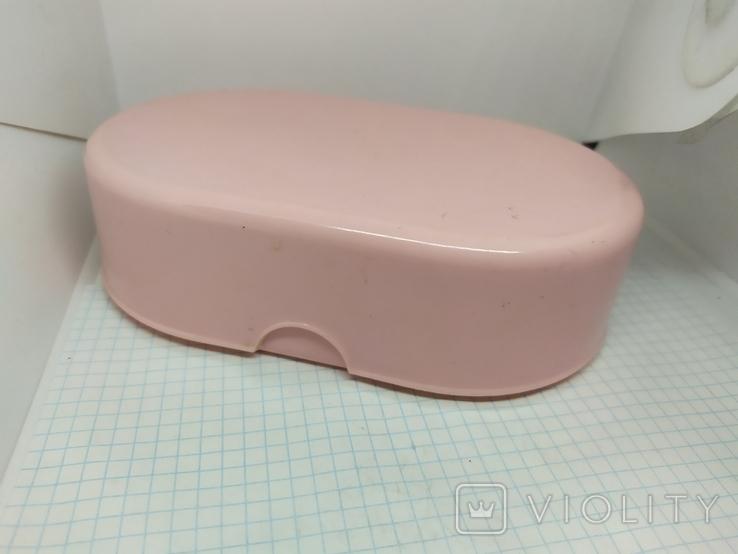 Розовая коробочка из СССР. 165х105х45мм, фото №2