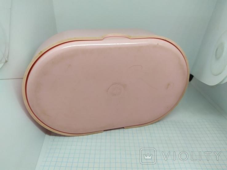 Розовая коробочка из СССР. 165х105х45мм, фото №6