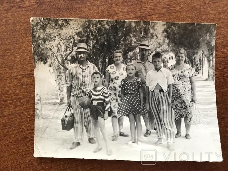1954 Семья в пёстрых одеждах Пижама Мяч Ремень Бляха, фото №3
