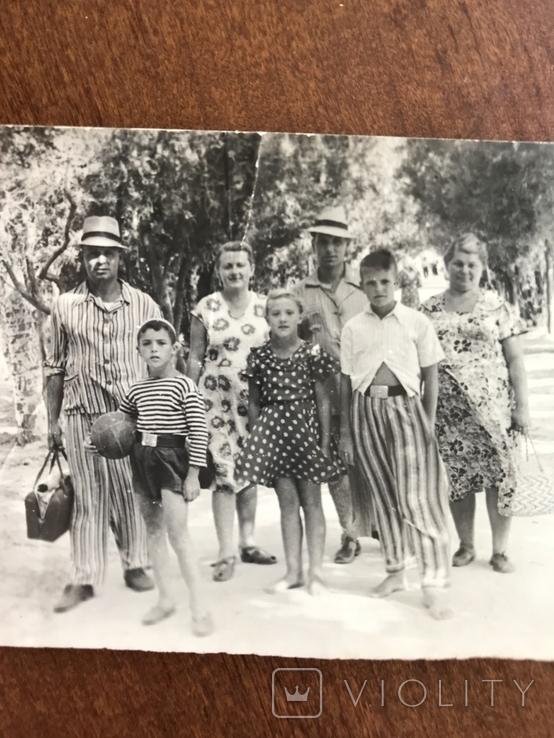 1954 Семья в пёстрых одеждах Пижама Мяч Ремень Бляха, фото №5