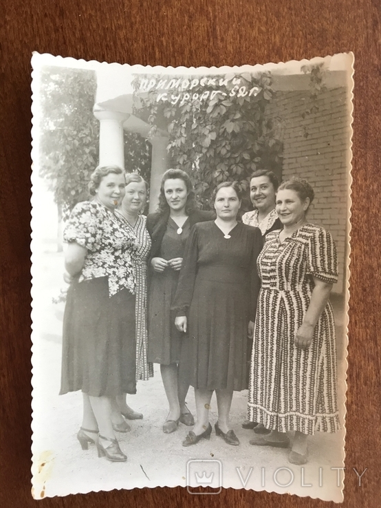 1952 Приморский Курорт Женщины в платьях, фото №2