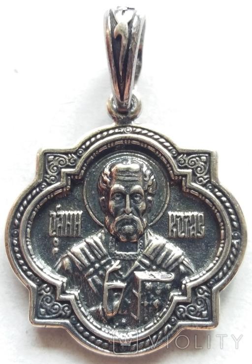 Новая. Серебряная иконка - подвеска 925 проба., фото №2
