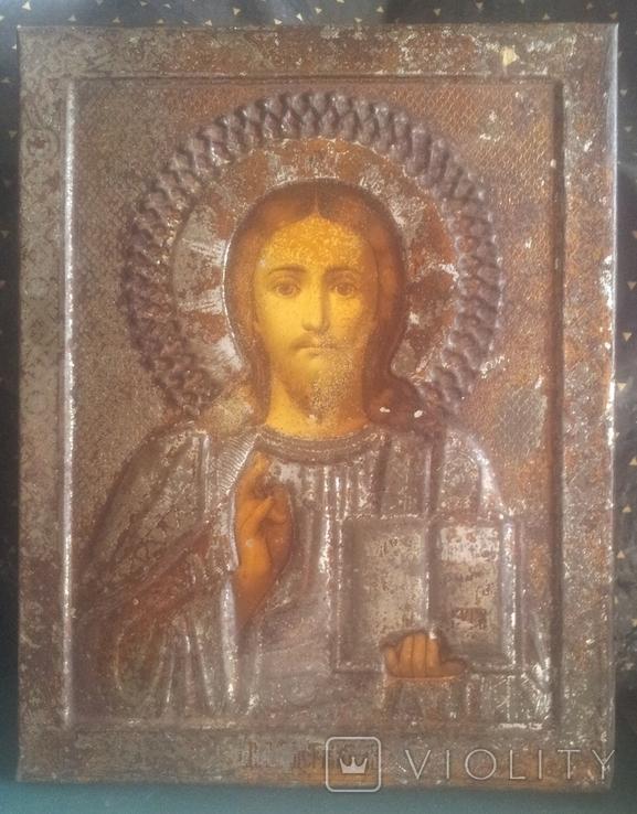 Старинная икона Спаситель, фото №2