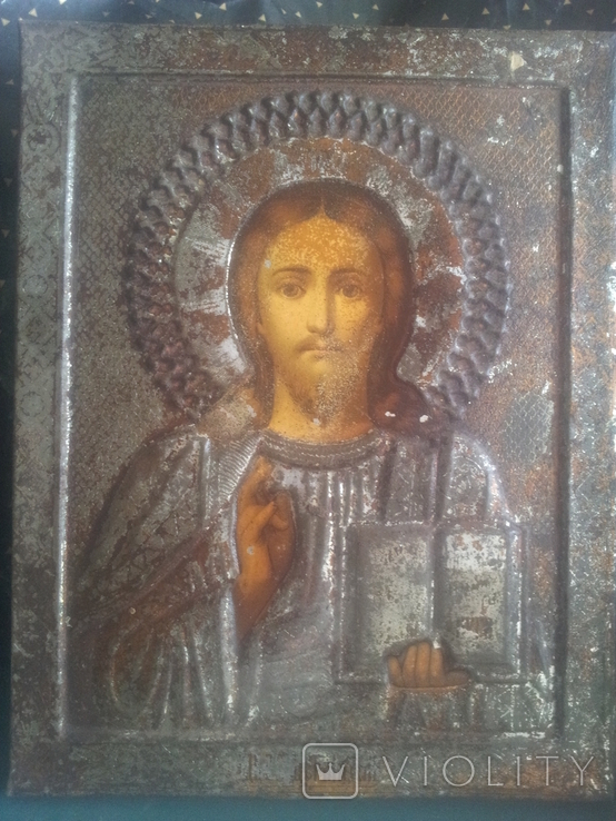 Старинная икона Спаситель, фото №3