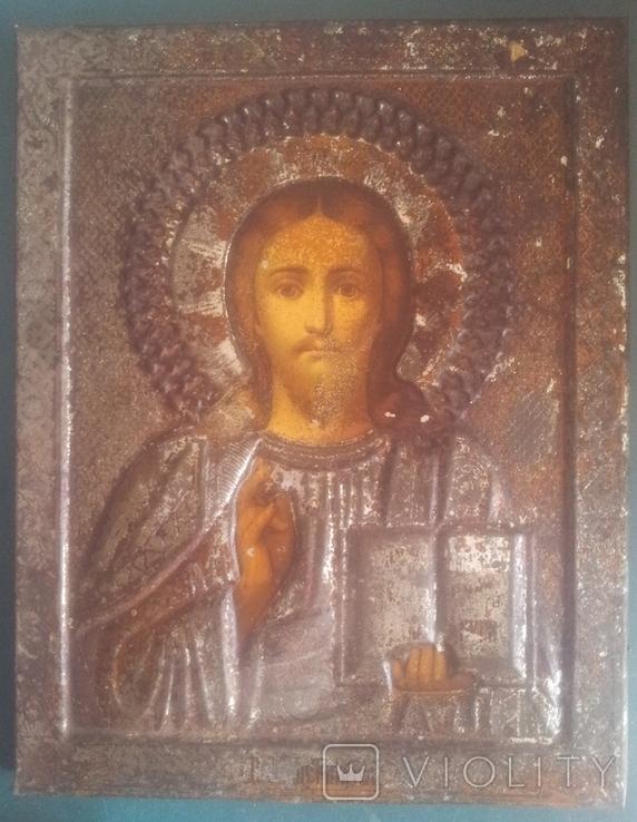 Старинная икона Спаситель, фото №4