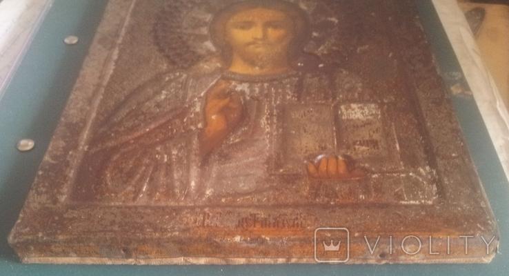 Старинная икона Спаситель, фото №7