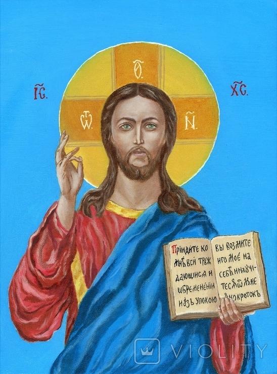 Икона маслом 30х40 Иисус Христос