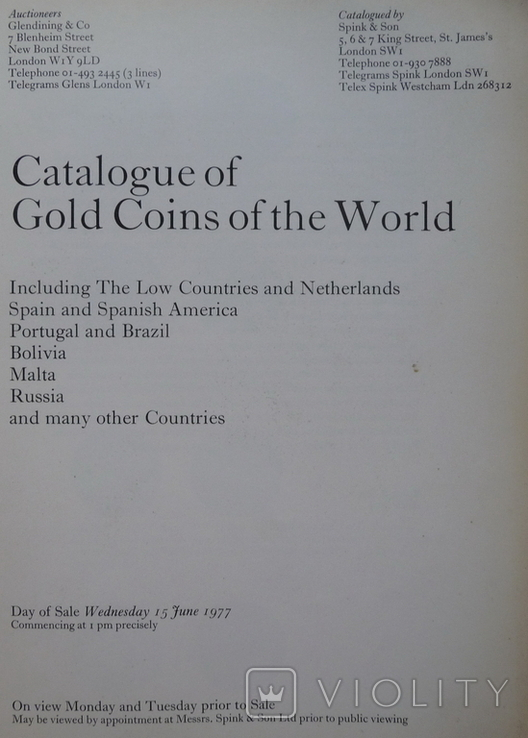 Catalogue of an Important Collection of Gold C0ins of the World . 1977 г ., фото №4