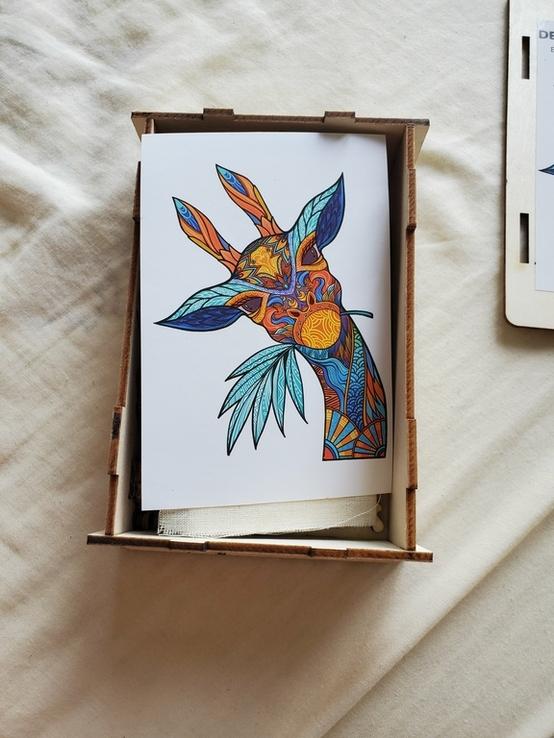 Деревянный пазл в виде жирафа, фото №3