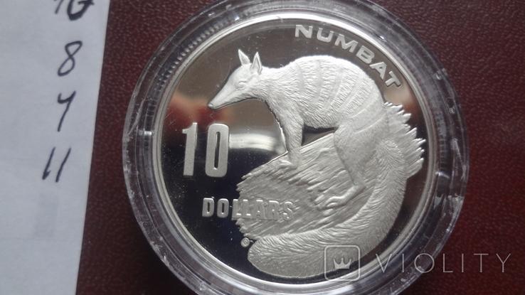 10 долларов 1995 Австралия Нумбат серебро (8.4.11)~, фото №6