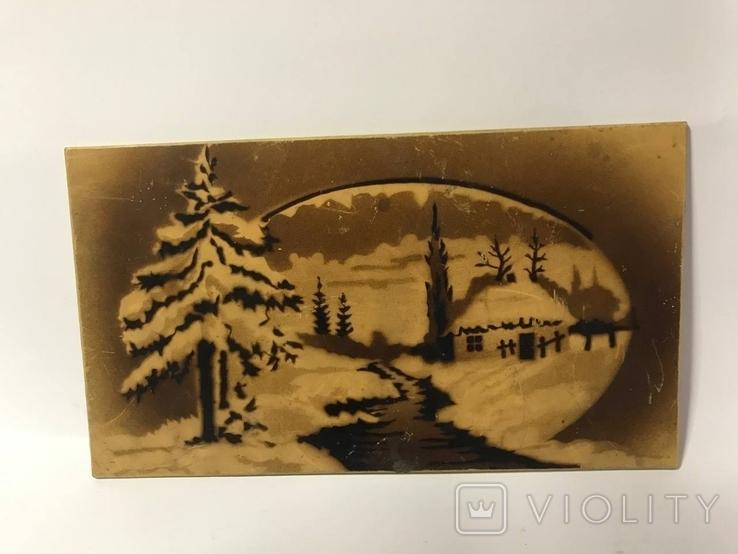 Настенный сувенир зимняя река, фото №2