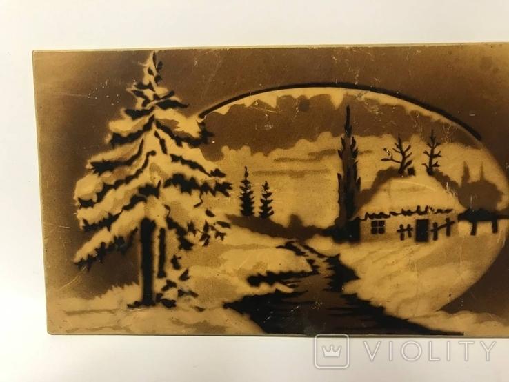 Настенный сувенир зимняя река, фото №3