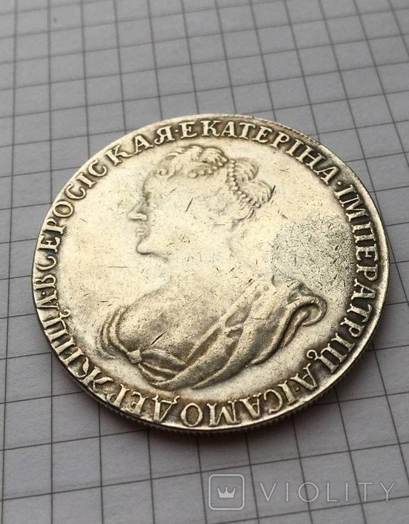 Рубль 1725 (Траурный) копия, фото №4