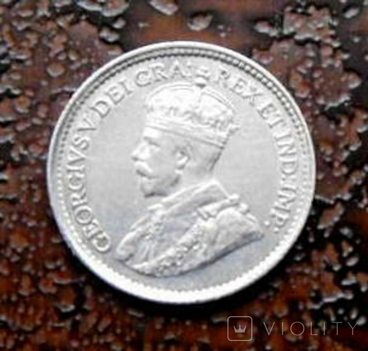 5 центов Канада 1918 состояние серебро, фото №4