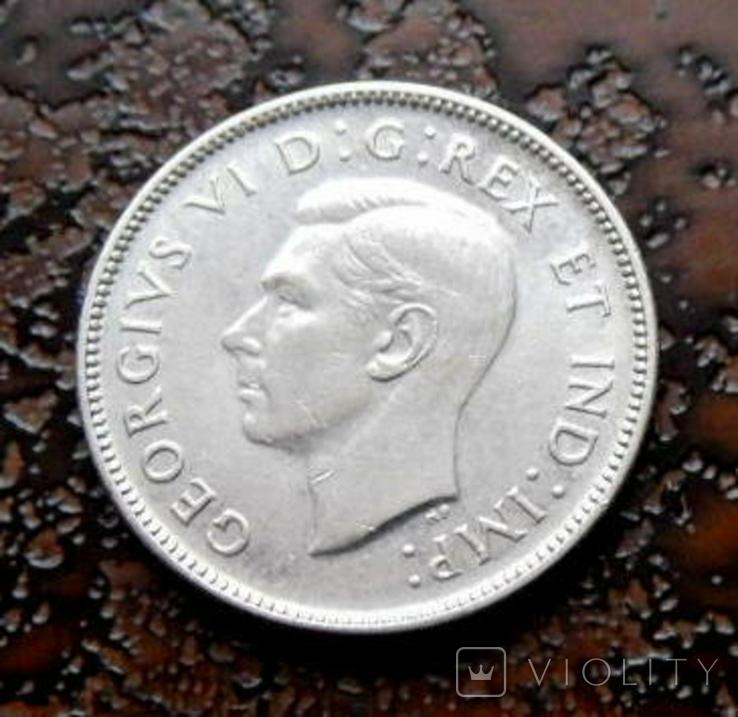 25 центов Канада 1943 состояние серебро, фото №2